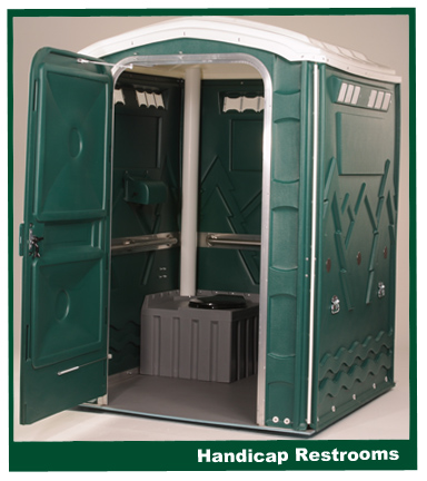 Handicap portable restrooms