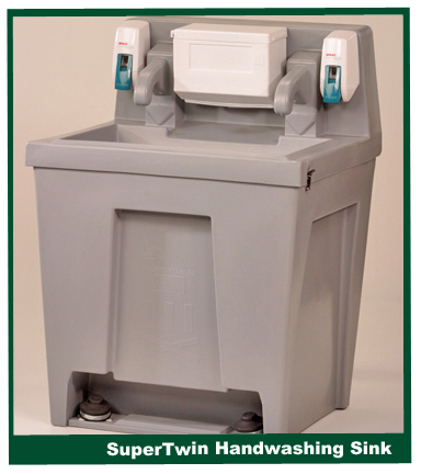 portable restroom hand washing sinks